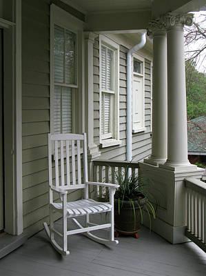 Charleston South Carolins Side Porch With Doric Columns Poster by Richard Singleton