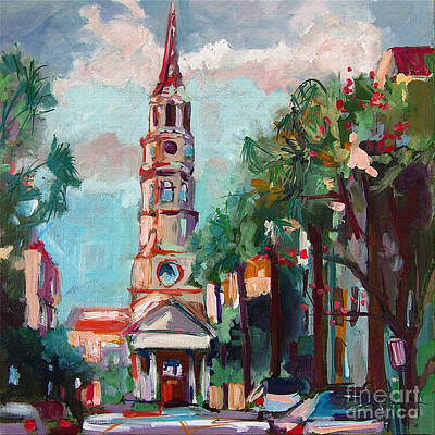 Charleston St Phillips Church Poster by Ginette Callaway