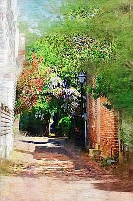Poster featuring the photograph Charlestons Alley by Donna Bentley