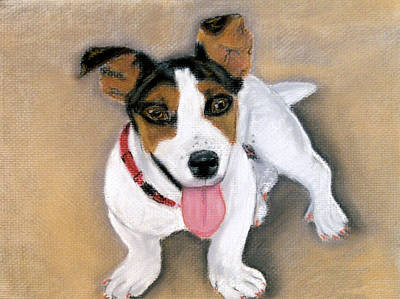 Poster featuring the pastel Charley by Jan Amiss