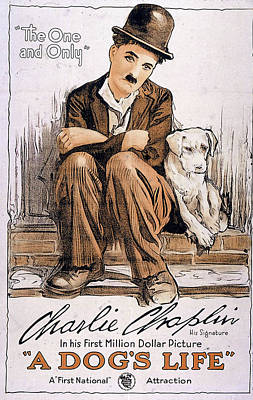 Charlie Chaplin In A Dog's Life 1918 Poster