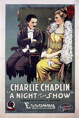 Charlie Chaplin In A Night In The Show 1915 Poster