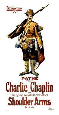 Charlie Chaplin In Shoulder Arms 1922 Poster