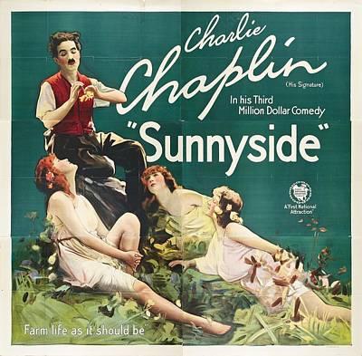Charlie Chaplin In Sunnyside 1919 Poster