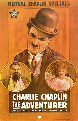 Charlie Chaplin In The Adventurer 1917 Poster