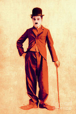 Charlie Chaplin The Tramp 20130216p68 Poster by Wingsdomain Art and Photography