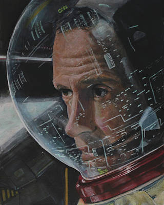 Charlie Duke- Apollo 16 Poster by Simon Kregar