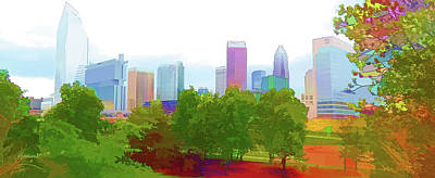 Charlotte Daytime Colors Poster by Garland Johnson