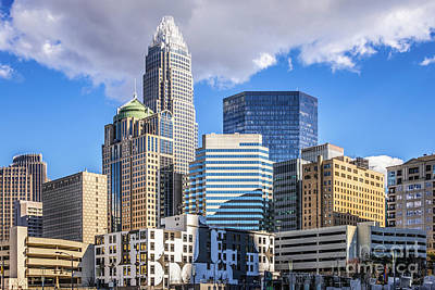 Charlotte Downtown City Buildings Photo Poster by Paul Velgos