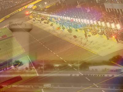 Charlotte Motor Speedway Poster by Kenneth Krolikowski