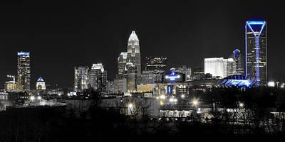 Charlotte Night Panorama Poster