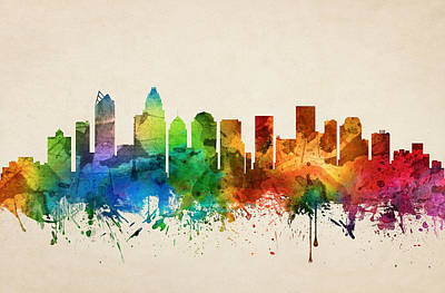 Charlotte North Carolina Skyline 05 Poster