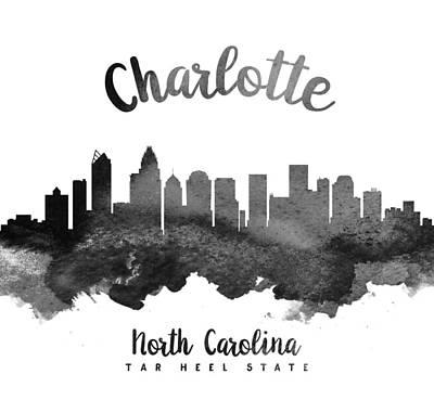 Charlotte North Carolina Skyline 18 Poster