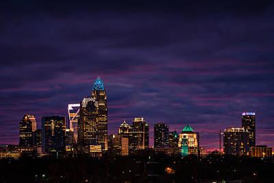 Charlotte, North Carolina Winter Sunset Poster by Serge Skiba