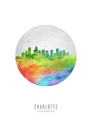 Charlotte Skyline Usncch20 Poster