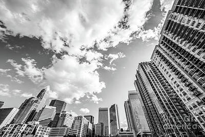 Charlotte Skyline Wide Angle Black And White Photo Poster by Paul Velgos