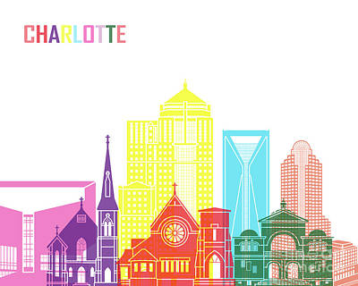 Charlotte V2 Skyline Pop Poster