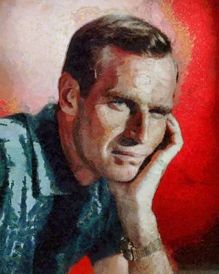 Charlton Heston Hollywood Actor Poster