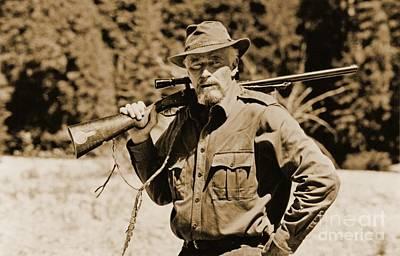 Charlton Heston Hunting In Alaska Poster by John Malone
