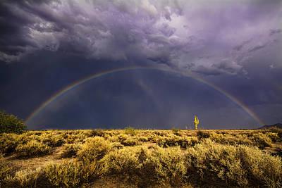Chasing The Desert Rainbow  Poster by Saija  Lehtonen