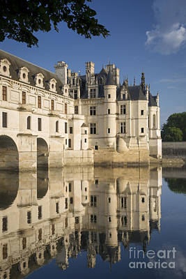 Chateau Chenonceau Morning Poster