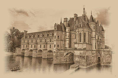 Chateau De Chenonceau Poster by Nigel Fletcher-Jones
