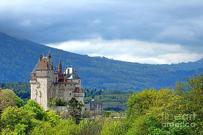 Chateau De Menthon Castle Poster by Olivier Le Queinec