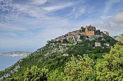 Poster featuring the photograph Chateau D'eze On The Road To Monaco by Allen Sheffield