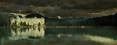 Chateau Lake Louise Poster by Russ Harris