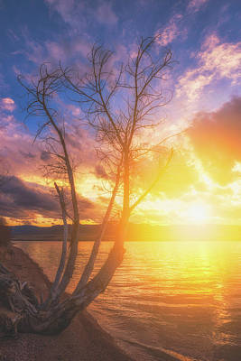 Poster featuring the photograph Chatfield Lake Sunset by Darren White