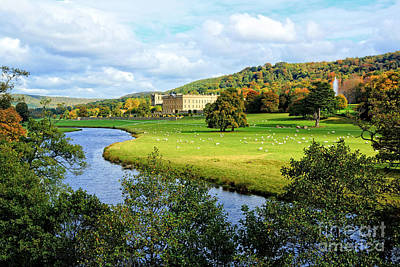 Chatsworth House View Poster