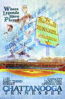 Chattanooga Historic Baseball Poster Poster