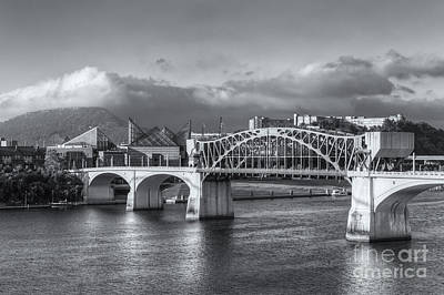 Chattanooga Market Street Bridge Iv Poster by Clarence Holmes