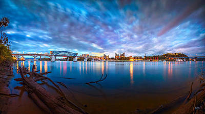 Chattanooga Riverfront At Dawn  Poster