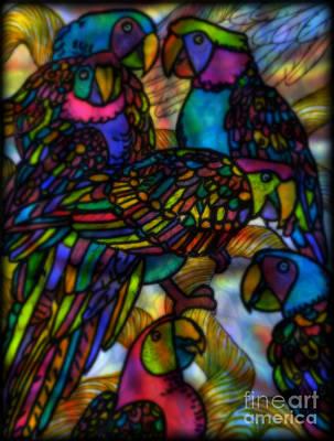 Chatty Birds Poster