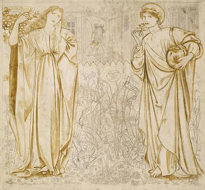 Chaucer's Legend Of Good Women Hypsiphile And Medea Poster by Edward Burne-Jones