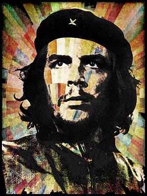 Che Guevara Revolution Gold Poster by Tony Rubino