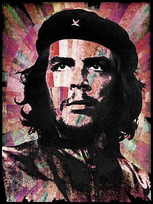 Che Guevara Revolution Red Poster by Tony Rubino