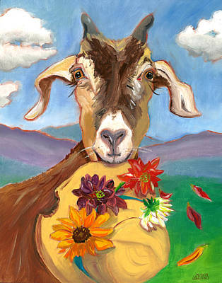Poster featuring the painting Cheeky Goat by Susan Thomas