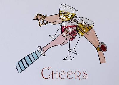 Cheers Poster by Jon Berghoff