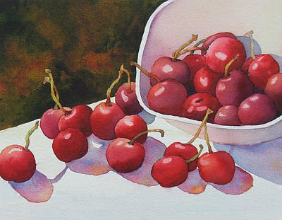 Cheery Cherries Poster by Judy Mercer