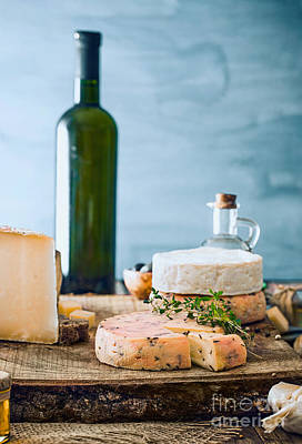 Cheese On Wood Poster