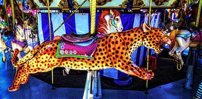 Cheetah Carrousel Ride Poster