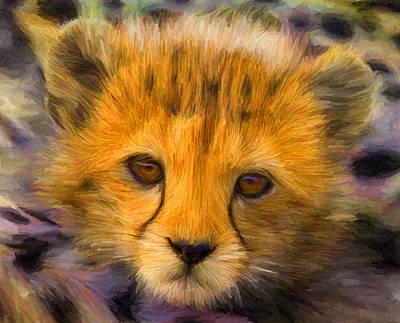 Cheetah Cub Poster by Caito Junqueira