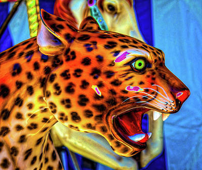 Cheetah Ride Portrait Poster