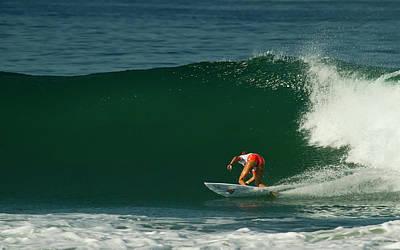 Chelsea Roett Surfer Girl Poster by Waterdancer