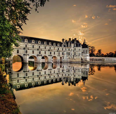 Chenonceau Castle In The Twilight Poster