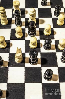 Chequered Strategic Battle Poster