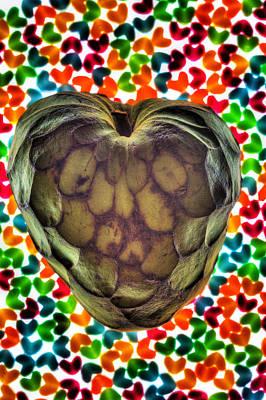Cherimoya Heart Poster by Robert Storost