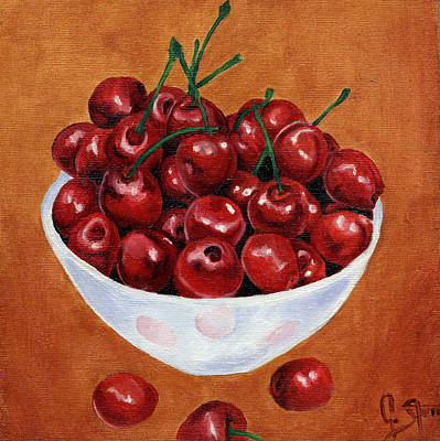 Cherries Poster by Dawnstarstudios